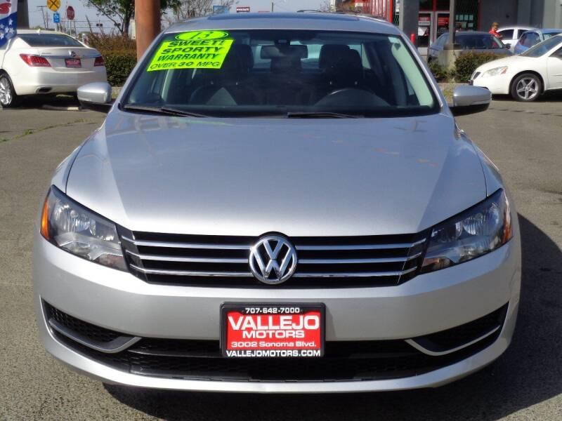 2013 Volkswagen Passat for sale at Vallejo Motors in Vallejo CA