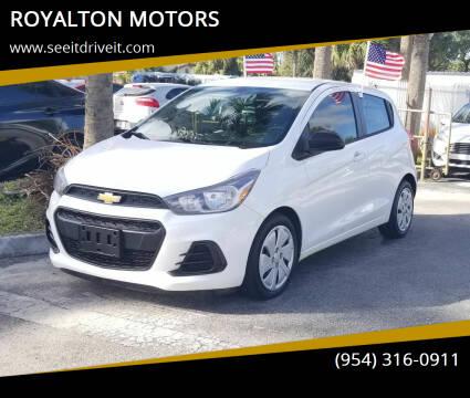 2017 Chevrolet Spark for sale at ROYALTON MOTORS in Plantation FL