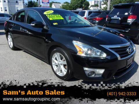 2013 Nissan Altima for sale at Sam's Auto Sales in Cranston RI