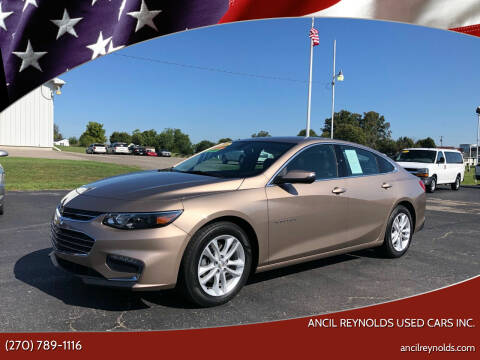 2018 Chevrolet Malibu for sale at Ancil Reynolds Used Cars Inc. in Campbellsville KY