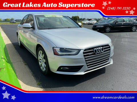 2013 Audi A4 for sale at Great Lakes Auto Superstore in Waterford Township MI