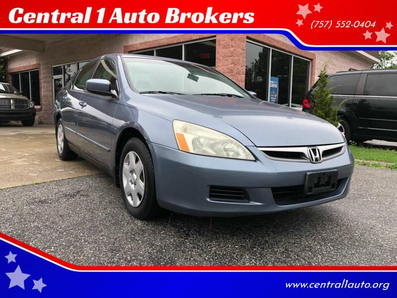 2007 Honda Accord for sale at Central 1 Auto Brokers in Virginia Beach VA