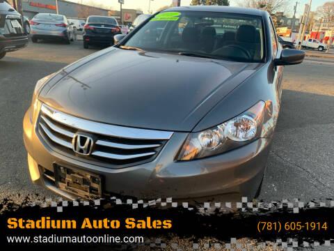2012 Honda Accord for sale at Stadium Auto Sales in Everett MA