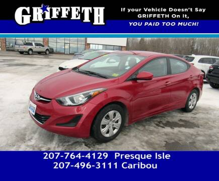 2016 Hyundai Elantra for sale at Griffeth Mitsubishi - Pre-owned in Caribou ME