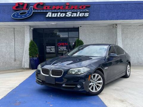 2016 BMW 5 Series for sale at El Camino Auto Sales in Gainesville GA