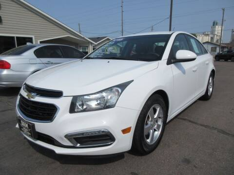 2015 Chevrolet Cruze for sale at Dam Auto Sales in Sioux City IA