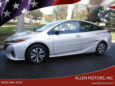 2018 Toyota Prius Prime for sale at Allen Motors, Inc. in Thousand Oaks CA