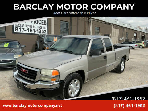 2007 GMC Sierra 1500 Classic for sale at BARCLAY MOTOR COMPANY in Arlington TX