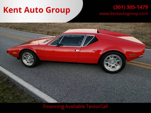 1972 De Tomaso Pantera for sale at Kent Auto Group in Woodsboro MD