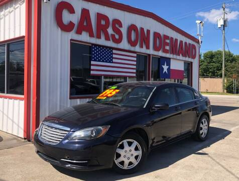 2012 Chrysler 200 for sale at Cars On Demand in Pasadena TX