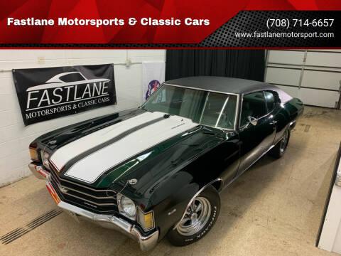 1972 Chevrolet Chevelle for sale at Fastlane Motorsports & Classic Cars in Addison IL