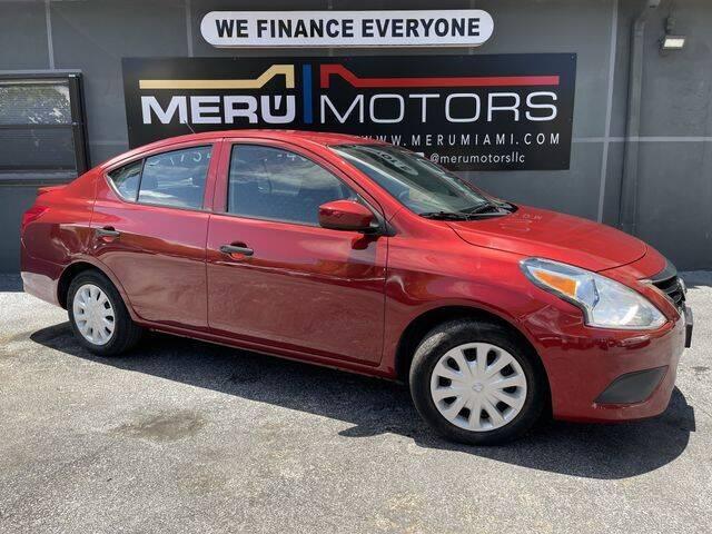 2017 Nissan Versa for sale at Meru Motors in Hollywood FL