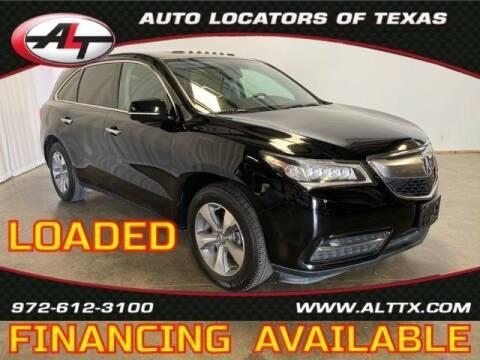 2014 Acura MDX for sale at AUTO LOCATORS OF TEXAS in Plano TX