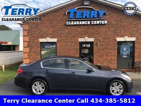 2010 Infiniti G37 Sedan for sale at Terry Clearance Center in Lynchburg VA