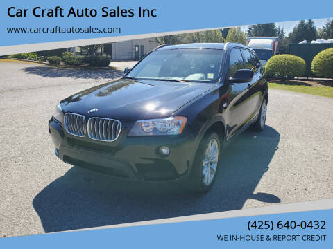 2014 BMW X3 for sale at Car Craft Auto Sales Inc in Lynnwood WA