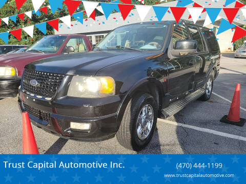 2005 Ford Expedition for sale at Trust Capital Automotive Inc. in Covington GA
