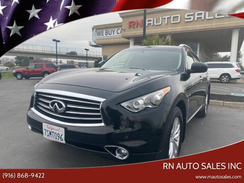 2015 Infiniti QX70 for sale at RN Auto Sales Inc in Sacramento CA