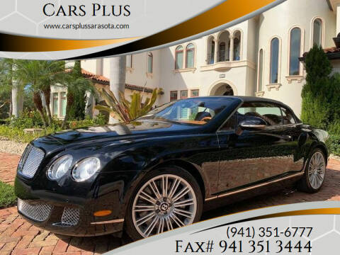 2010 Bentley Continental for sale at Cars Plus in Sarasota FL