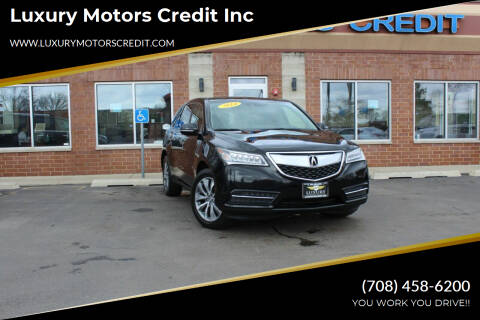 2014 Acura MDX for sale at Luxury Motors Credit Inc in Bridgeview IL