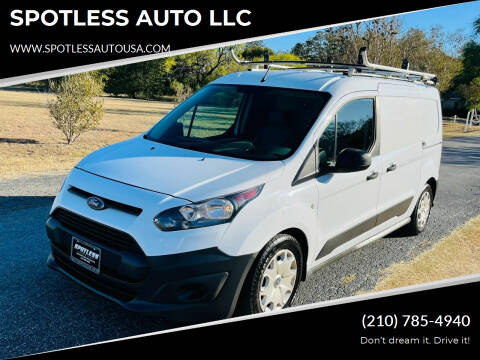 2017 Ford Transit Connect Cargo for sale at SPOTLESS AUTO LLC in San Antonio TX