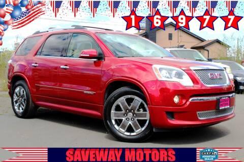 2012 GMC Acadia for sale at Saveway Motors in Reno NV