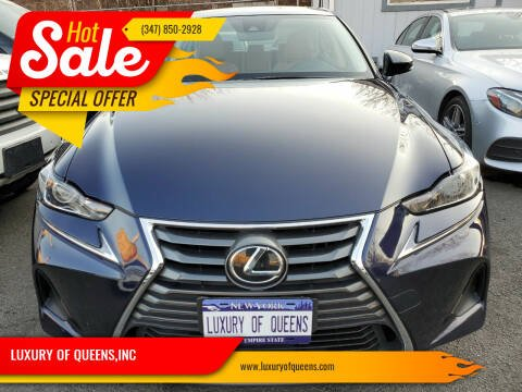 2017 Lexus IS 300 for sale at LUXURY OF QUEENS,INC in Long Island City NY
