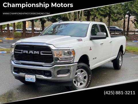 2019 RAM Ram Pickup 2500 for sale at Championship Motors in Redmond WA