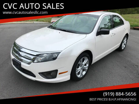 2012 Ford Fusion for sale at CVC AUTO SALES in Durham NC