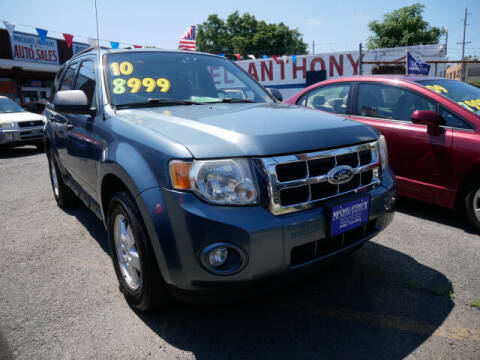 2010 Ford Escape for sale at MICHAEL ANTHONY AUTO SALES in Plainfield NJ