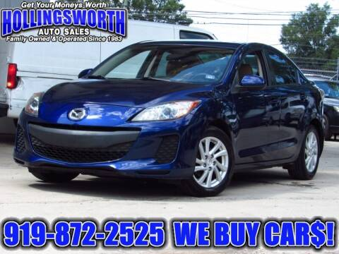 2012 Mazda MAZDA3 for sale at Hollingsworth Auto Sales in Raleigh NC