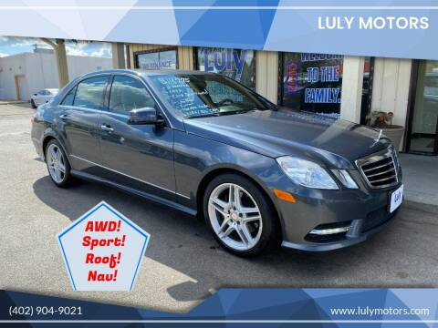 2013 Mercedes-Benz E-Class for sale at Luly Motors in Lincoln NE