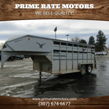 1992 Hillsboro 7' x 16' GN Stock Trailer for sale at PRIME RATE MOTORS in Sheridan WY