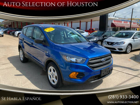2019 Ford Escape for sale at Auto Selection of Houston in Houston TX