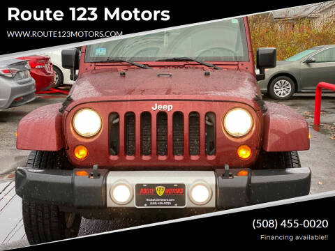 2010 Jeep Wrangler Unlimited for sale at Route 123 Motors in Norton MA