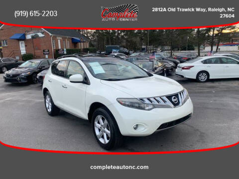 2009 Nissan Murano for sale at Complete Auto Center , Inc in Raleigh NC