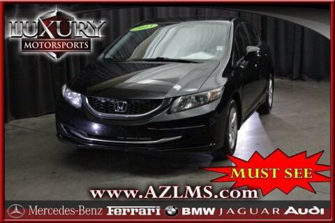 2013 Honda Civic for sale at Luxury Motorsports in Phoenix AZ