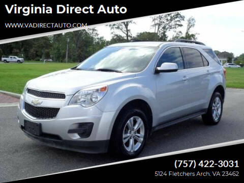 2013 Chevrolet Equinox for sale at Virginia Direct Auto in Virginia Beach VA