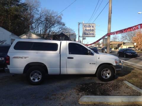 2008 Dodge Ram Pickup 1500 for sale at GIB'S AUTO SALES in Tahlequah OK
