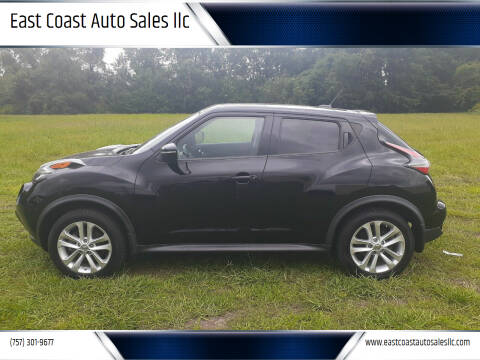 2016 Nissan JUKE for sale at East Coast Auto Sales llc in Virginia Beach VA