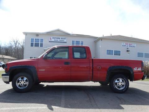 2001 Chevrolet Silverado 1500 for sale at SOUTHERN SELECT AUTO SALES in Medina OH
