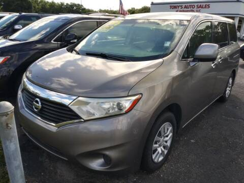 2012 Nissan Quest for sale at Tony's Auto Sales in Jacksonville FL