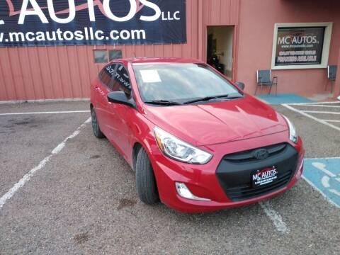 2017 Hyundai Accent for sale at MC Autos LLC in Pharr TX