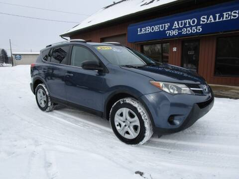 2013 Toyota RAV4 for sale at LeBoeuf Auto Sales in Waterford PA