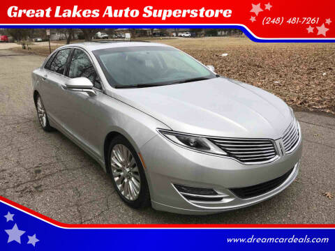2016 Lincoln MKZ for sale at Great Lakes Auto Superstore in Pontiac MI