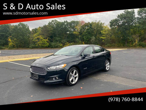 2014 Ford Fusion Hybrid for sale at S & D Auto Sales in Maynard MA