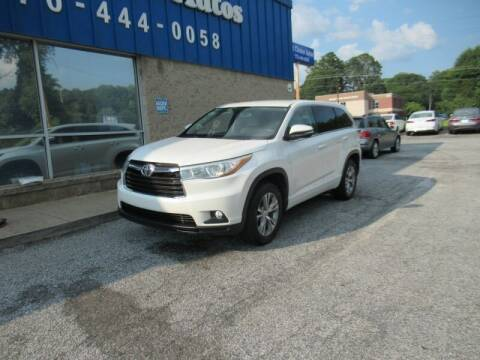 2015 Toyota Highlander for sale at Southern Auto Solutions - 1st Choice Autos in Marietta GA