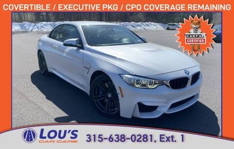 2016 BMW M4 for sale at LOU'S CAR CARE CENTER in Baldwinsville NY