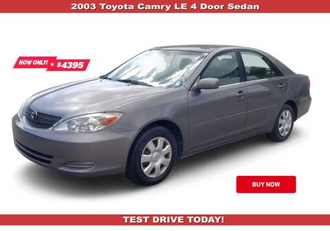 2003 Toyota Camry for sale at Steel River Auto in Bridgeport OH