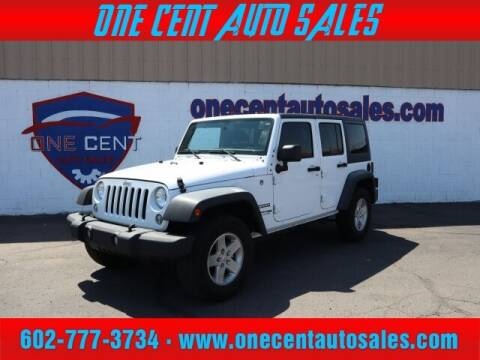 2018 Jeep Wrangler JK Unlimited for sale at One Cent Auto Sales in Glendale AZ
