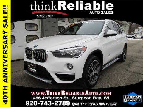 2018 BMW X1 for sale at RELIABLE AUTOMOBILE SALES, INC in Sturgeon Bay WI